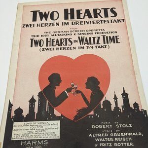 Two Hearts sheet music - 1930